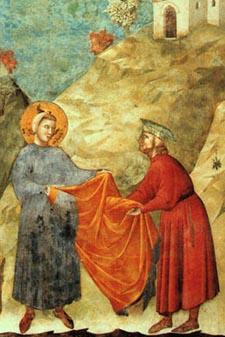 San Francesco dona il mantello a un povero - Giotto